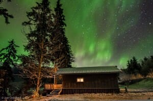 Swan View Cabin Northern Lights